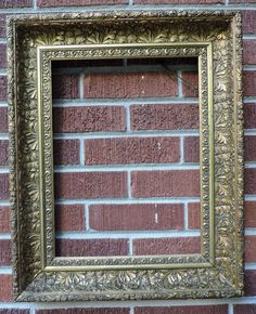 Antique Victorian AESTHETIC Movement Deep Coved Gilt GOLD Frame 12 x 16 c1890s  #AestheticMovement #unknown