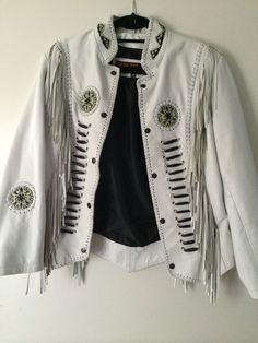 white leather fringe jacket #3BWest #BasicJacket