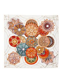 """Les Domes Celestes"" Silk Twill Scarf 90cm by Hermès at Gilt"