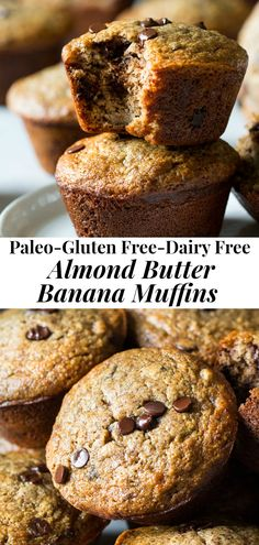 These gluten free and Paleo almond butter banana muffins will become a family favorite for breakfast and snacks! Made with almond flour and flaxseed, these are healthy, kid friendly and perfect for your favorite mix-ins. Paleo Dessert, Healthy Desserts, Honey Dessert, Best Nutrition Food, Proper Nutrition, Nutrition Products, Nutrition Articles, Nutrition Chart, Wellness Products