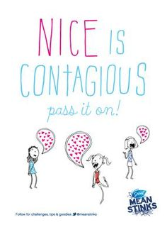 Mean Stinks--Free, printable posters with Anti-Bully message