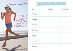 Your Printable Workout Plan For March