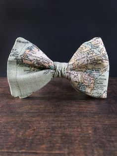 Bow Tie for Men by BartekDesign: pre tied dusty by BartekDesign