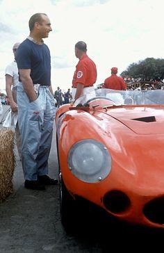 Juan Fangio and his Maserati 300S at the 1957 Cuban GP