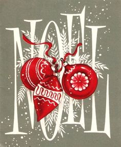 Noel Ornaments-cute print for the mantle