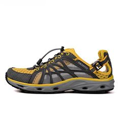MERRTO Mens Water Yellow PU Athletic Water Shoes US65 -- Click image for more details.