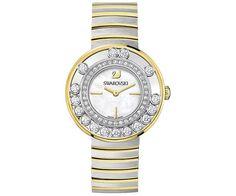 Lovely Crystals White / Yellow Gold Tone Watch - Watches - Swarovski Online Shop