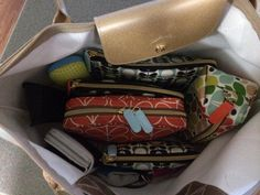 Orla Kiely from Target makeup bags indie a Longchamp Le Pliage. Hate digging for stuff in my bag! - PurseForum