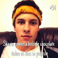 E quem não comeria?! Shawn Mendes Facts, Magcon, I Love Him, Cupcake, Stars, Facts, Wall, Drawings, Celebs