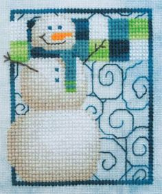 Feeling Frosty is the title of this cross stitch pattern from Miles to Go - so cute and will stitch up beautifully with these icy colors. Th...