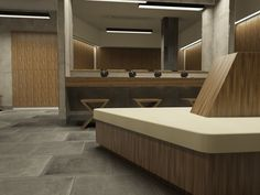 Design and Luxury wood lockers in changing room
