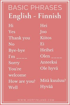 Interested in Finnish language basics? Here are the things to know about Finnish. Bonus: Get a free Finnish online course! Travel Advice, Travel Guides, Travel Tips, Travel Destinations, Helsinki, Finland Facts, Learn Finnish, Finnish Words, Finnish Language