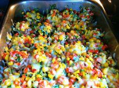Corn and Capsicum Stuffed Mushrooms  http://www.shrutisdilectabledilites.com/2013/12/07/corn-and-capsicum-stuffed-mushrooms/
