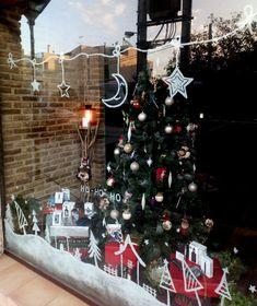 Ζωγραφική βιτρίνας καταστήματος Xmas Drawing, Ants, Christmas Tree, Holiday Decor, Drawings, Home Decor, Teal Christmas Tree, Decoration Home, Room Decor