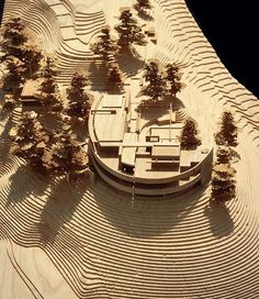 architecture model Brown shade interesting for trees, contrast . architecture model Brown shade interesting to trees, contrasting with light wood . Maquette Architecture, Landscape Architecture Model, Architecture Model Making, Landscape Model, Concept Architecture, Landscape Design, Architecture Design, Roman Architecture, Woodworking Projects
