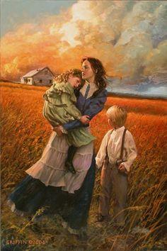 "James Griffin Cover Art ~ ""A Grateful Harvest Prairie River"""
