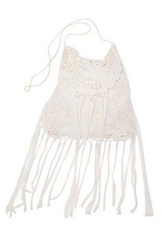 """Miss June's Fringe Tassel Hobo Cross Body Bag – one of the season's favorite embellishments. Ideal for beach vacations, it will also work for summer strolls in the city. Measures : 17"""" x 16"""""""