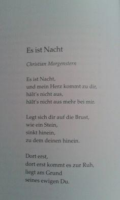 Ich liebe Dich! Es ist Nacht - Christian Morgenstern - Liebesgedicht - german poem