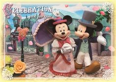 Disney Mickey & Minnie Celebration 3D Lenticular Greeting Card