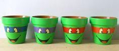 TMNT Flower Pots: Heroes in Your Herb Garden