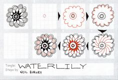 Waterlily - tangle pattern by Neil Burley