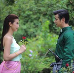 Two spirits of love..mario maurer and mint chalida