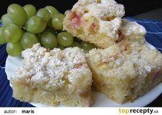 Rebarborový koláč recept - TopRecepty.cz Home Recipes, Sweet Recipes, Potato Salad, Yummy Food, Delicious Meals, Sweets, Cooking, Ethnic Recipes, Rhubarb Recipes