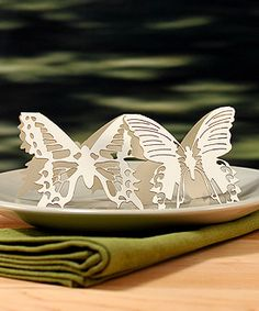 Laser Expressions Butterfly Folded Place Card