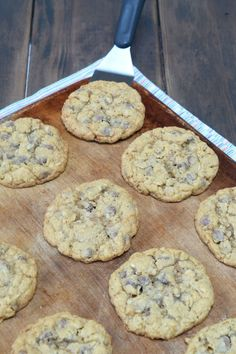 cookie on a baking sheet