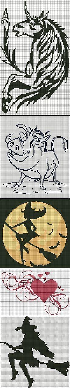 Monochrome hook, knitting needles and needles .. Scheme. / Themes / Interesting ideas for inspiration