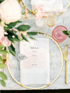 Blush and gold table decor | Photography: Taralynn Lawton