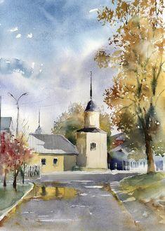Акварели и рисунки, художник Владимир Тупоршин