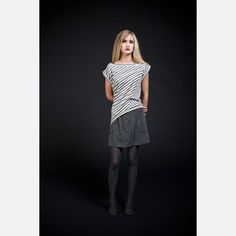 Jaye Skirt Gray, $55, now featured on Fab.