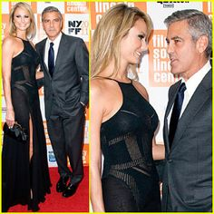 George Clooney and Stacy Keibler www.TheFirst10Minutes.com