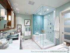 Shower color, bench, shower heads, towel hooks/racks  Strongly dislike vessel sinks of any kind.