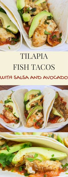 Tilapia Fish Tacos Recipe from Pescetarian.Kitchen - fish tacos The Effective Pictures We Offer You About egg recipes A quality picture can tell you ma - Seafood Dishes, Seafood Recipes, Mexican Food Recipes, Cooking Recipes, Healthy Recipes, Talpia Recipes, Talipa Fish Recipes, Fish Recipes Healthy Tilapia, Tilapia Dishes