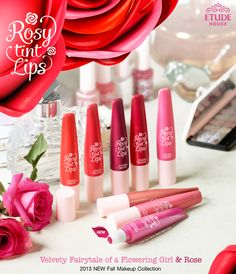 Presenting Etude House's Rosy Tint Lips from Fall 2013 the '&Rose' Makeup Collection