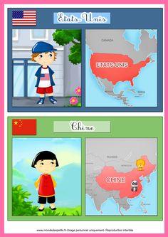 Les pays et leurs drapeaux à imprimer