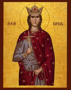 Saint Barbara | IcCSBarb - St. Barbara Orthodox Cross Stitch Pattern Icon