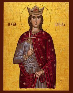 Saint Barbara   IcCSBarb - St. Barbara Orthodox Cross Stitch Pattern Icon