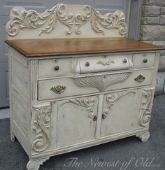 I see these pieces in the darkest, most dreary-looking walnut at the auctions. they are so lifeless and unappealing. but then! Color Old Ochre and Annie's Dark Wax...Chalk Paint® by Annie Sloan