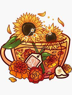 Cute Food Drawings, Cute Little Drawings, Cute Kawaii Drawings, Tea Cup Drawing, Bottle Drawing, Arte Do Kawaii, Kawaii Art, Stickers Kawaii, Cute Stickers