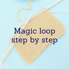 Magic loop technique - step by step Ssk In Knitting, Magic Loop Knitting, Knitting Help, Poncho Knitting Patterns, Knitting For Beginners, Knitting Stitches, Knit Patterns, Knitting Tutorials, King Craft