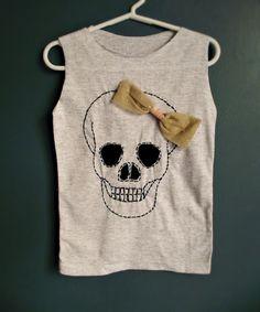 Halloween... D.I.Y. Skull style dress.