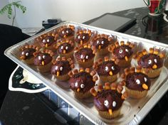 Thanksgiving day cupcakes made by someone very special!