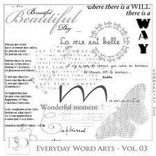 Everyday Word Arts Vol 03 by D's Design  #CUdigitals cudigitals.com cu commercial digital scrap #digiscrap scrapbook graphics