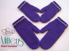 Child & Adult - Cutie Pie Mittens - Stitch11
