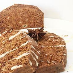 Plumcake al cacao e banana, speziato all'anice e cannella. . Healthy