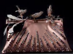 Smokey Pink Embellished Clutch, so pretty ~ Valentino