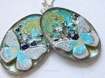 Earrings with a butterfly